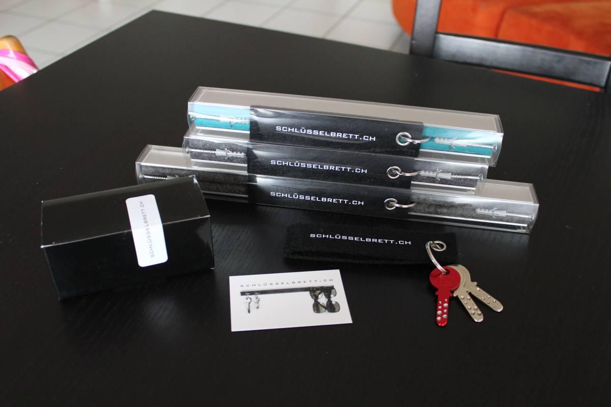 Schlüsselbrett.ch Testbericht stylische Schlüsselaufbewahrung mit Filz im Alumantel