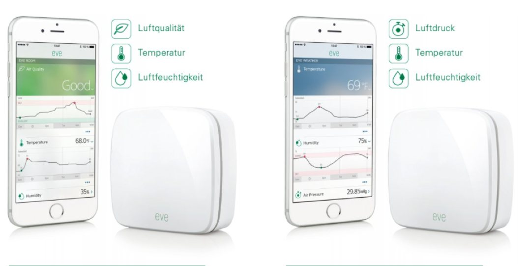 Elgato Eve - ester Sensoren fürs Apple HomeKit
