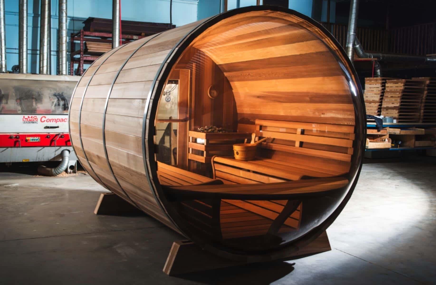 Leisure Craft West – Panoramic View Barrel Sauna