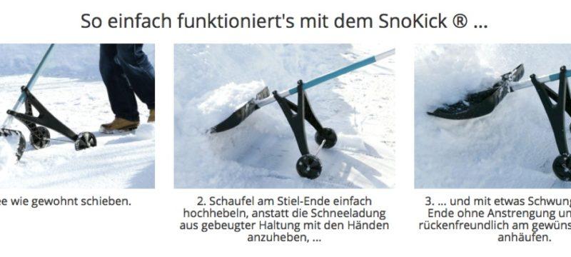 SnoKick – das Ultimative Gadget zum Schneeschaufeln
