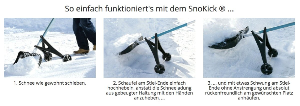 SnoKick – das Ultimative Gadget zum Schneeschaufeln?