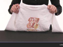 Laurastar – So bügeln Sie ein Kleidungsstück mit Perlen bzw. Pailletten richtig