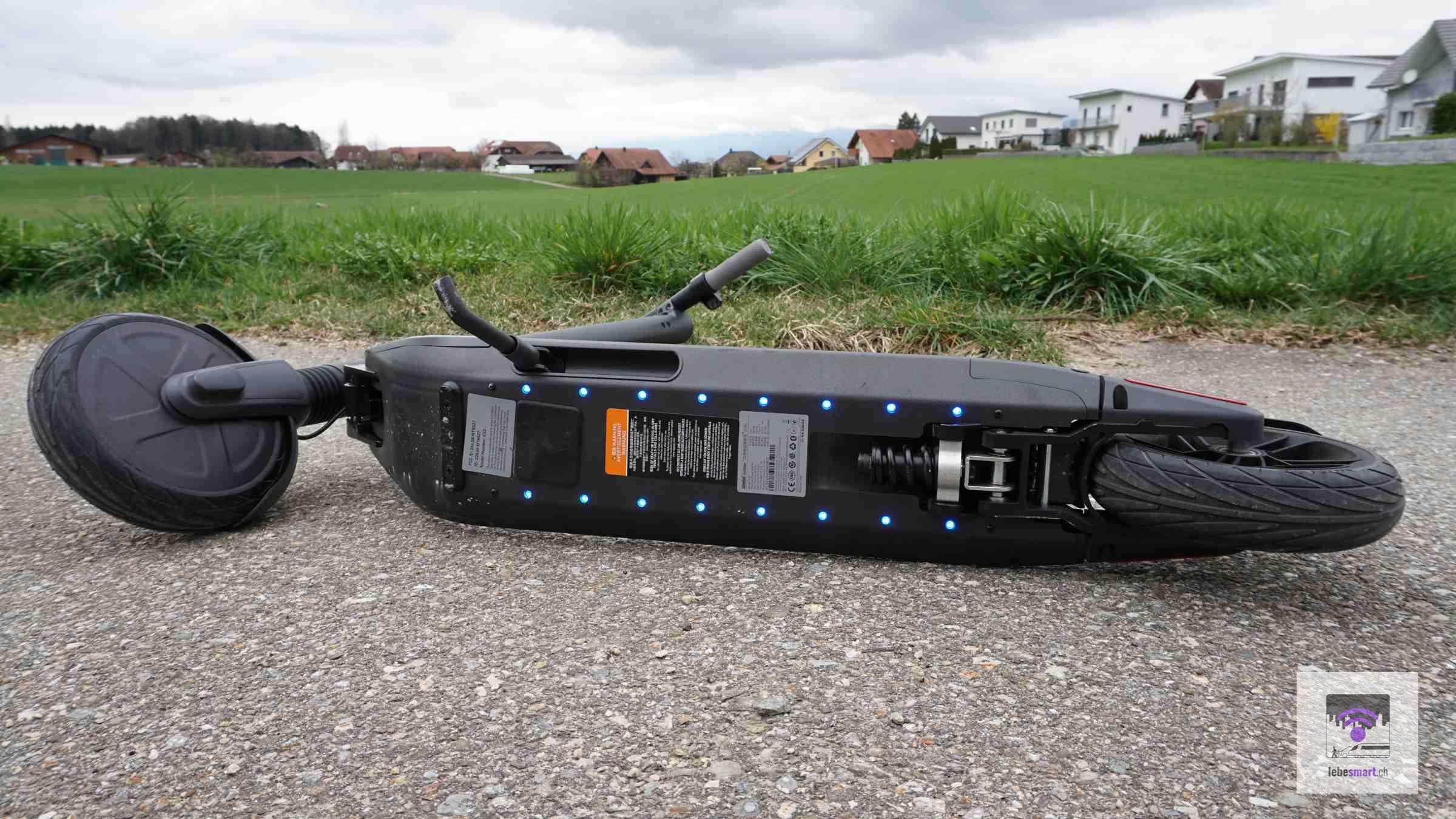 Die LED-Beleuchtung an der Unterseite