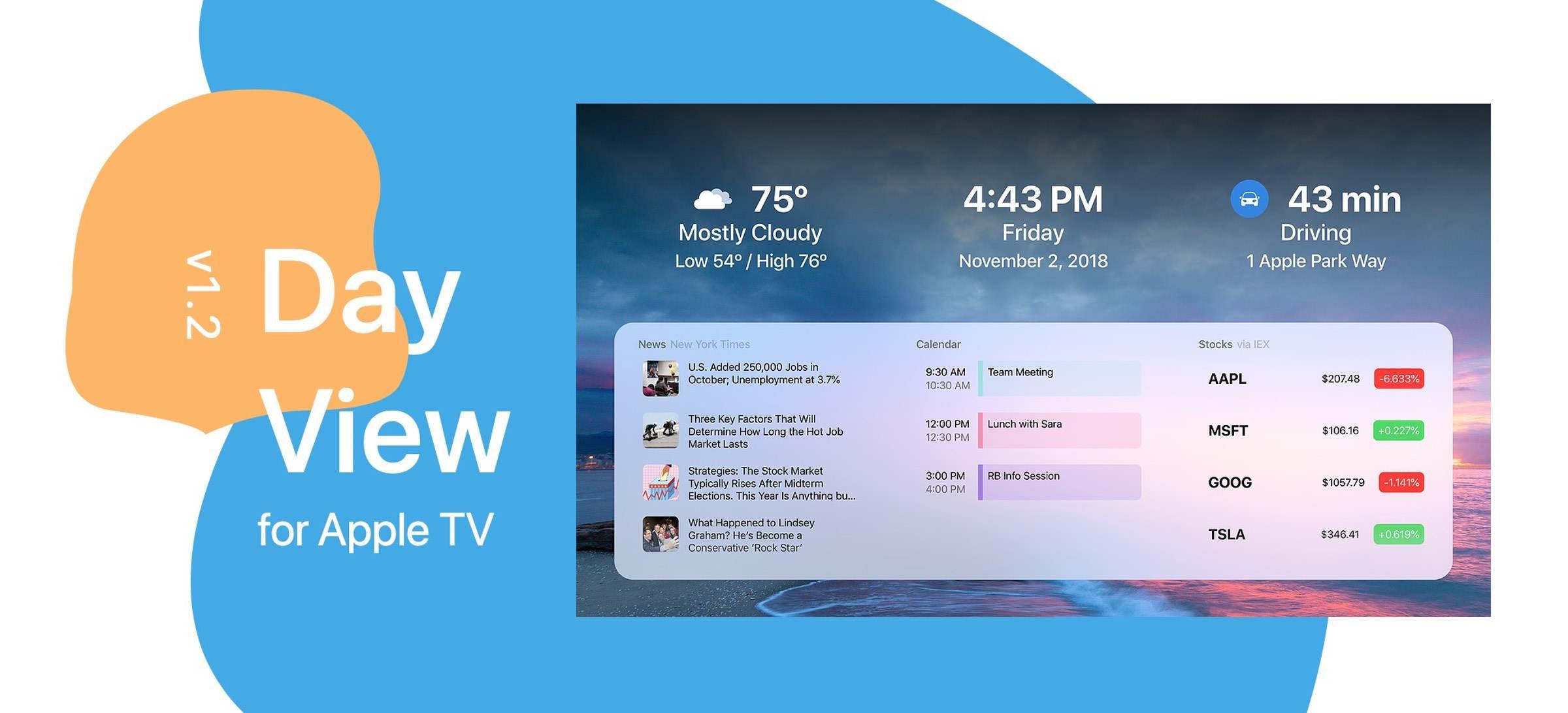 DayView Pro App: Apple TV Dashboard ist nun gratis verfügbar