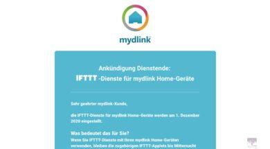 Bald kein IFTTT für mydlink Home-Gadgets