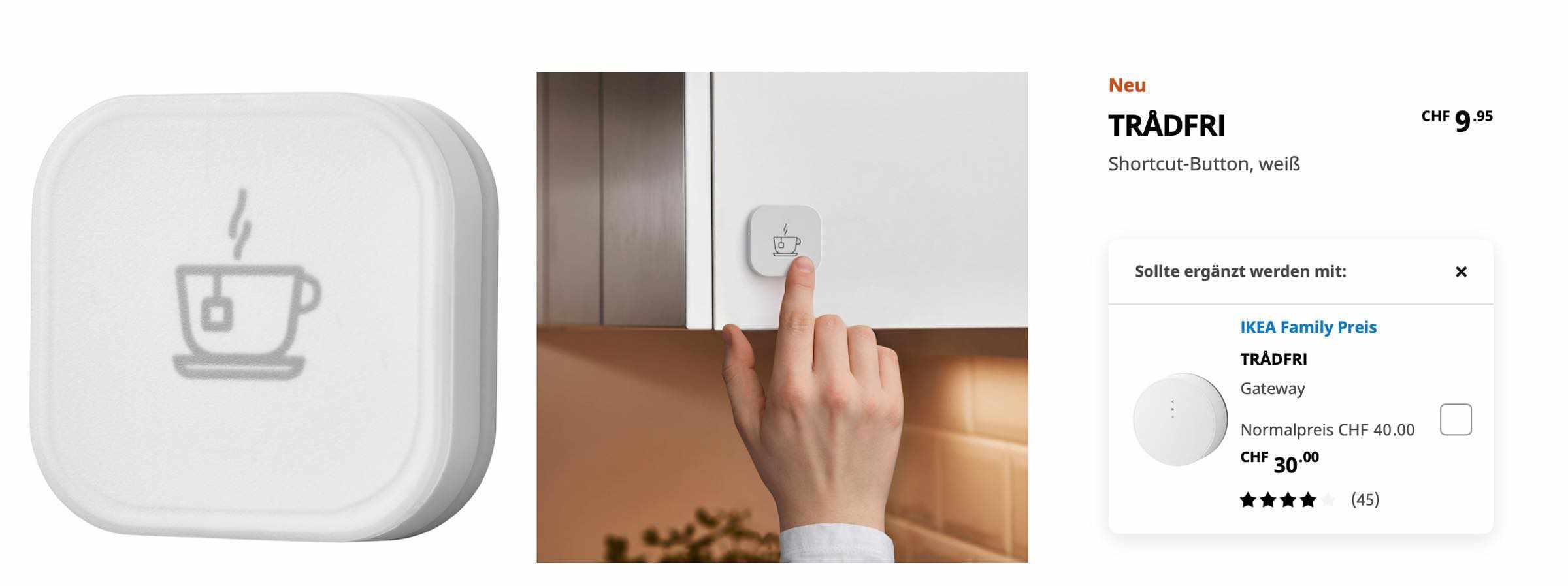 IKEA Shortcut-Button – Endlich online verfügbar