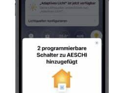 HomeKit Erweiterung für die Buttons