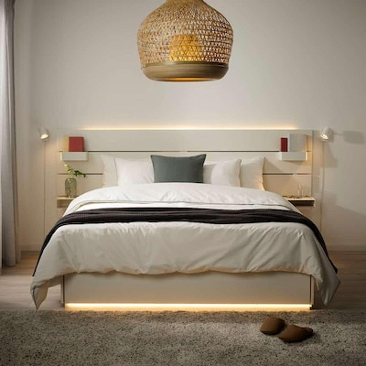 Unterboden Beleuchtung am Bett